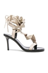 Isabel Marant Leather Ansel Heels In White