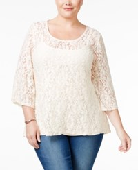 Styleandco. Style Co. Plus Size Lace High Low Swing Top Only At Macy's Vintage Cream