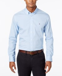 Tommy Hilfiger Men's Cadence Circle Print Shirt Blue Island