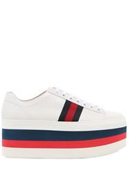 Gucci 55Mm Peggy Leather Platform Sneakers