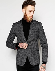 Vito Check Blazer In Slim Fit Black