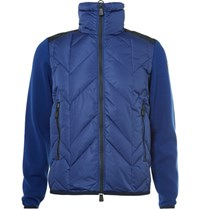 Moncler Grenoble Virgin Wool And Quilted Hell Down Ki Jacket Blue