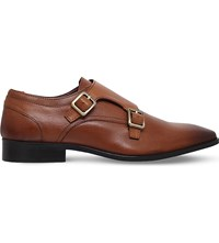 Kg By Kurt Geiger Brook Leather Monk Shoes Tan