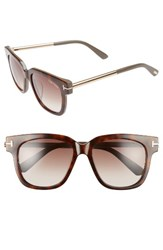 Tom Ford Women's Tracy 54Mm Retro Sunglasses Havana Gradient Roviex Havana Gradient Roviex
