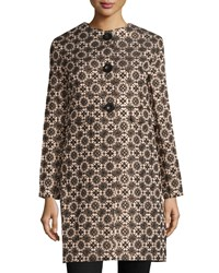 Max Studio Mosaic Jacquard Jacket Champagne Black