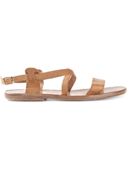 Dimissianos And Miller Wooden Sole Strappy Sandals