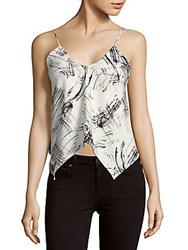 Style Stalker Dialogue Printed Asymmetric Camisole Whiteley