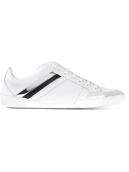 Christian Dior Dior Homme Patent Stripes Sneakers White