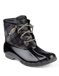 Sperry Saltwater Duck Ankle Boots Black