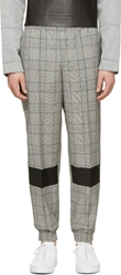 Kris Van Assche Black And White Drawstring Trousers
