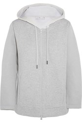 Adidas By Stella Mccartney Bonded Jersey Hooded Top Gray