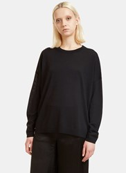 Acne Studios Charel Merino Crew Neck Sweater Black