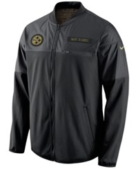 Nike Men's Pittsburgh Steelers Salute To Service Hybrid Jacket Black Anthracite
