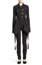 Proenza Schouler Women's Asymmetrical Tweed Jacket Black