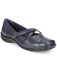 Easy Street Shoes Easy Street Marcie Flats Women's Shoes New Navy