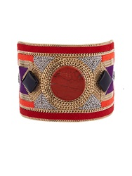 Etro Bead Embellished Suede Cuff