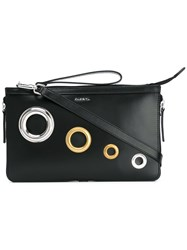 Diesel Clutch Bag Women Calf Leather One Size Black