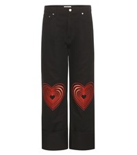 Christopher Kane Embroidered Jeans Black