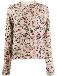 Acne Studios Crowd Print Sweater Pink