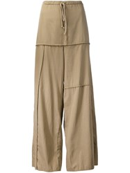 Lost And Found Rooms Panelled Wide Leg Trousers Nude And Neutrals