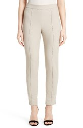 St. John Women's Collection Emma Stretch Pique Ankle Pants
