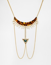 Designsix Design Six Egyptian Style Collar Necklace Gold