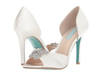 Blue By Betsey Johnson Briar Ivory Satin High Heels Bone