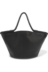 The Row Market Large Textured Leather Tote Black