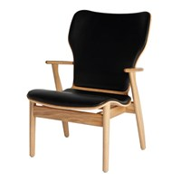 Artek Domus Oak Leather Lounge Chair