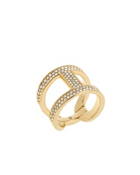 Maritime Link Ring Golden Pave Michael Kors