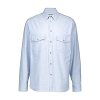 Gucci Embroidered Shirt Sky Blue
