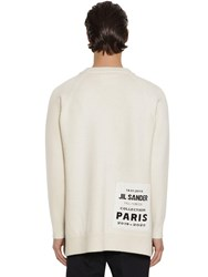Jil Sander Knit Virgin Wool Crewneck Sweater Natural