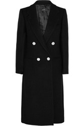 Joseph Blazz Double Breasted Wool Blend Coat Black