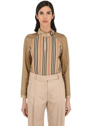 Burberry Printed Cotton Shirt Archive Beige