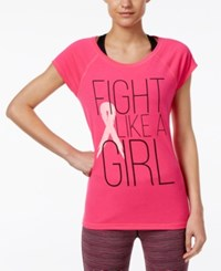 Ideology Pink Ribbon Graphic T Shirt Only At Macy's Molten Pink