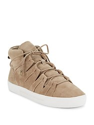 Joie Round Toe Lace Up Sneakers Mousse