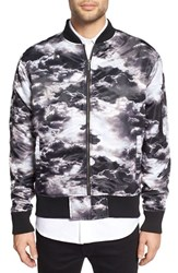 Zanerobe Men's 'Clouds' Print Nylon Bomber Jacket
