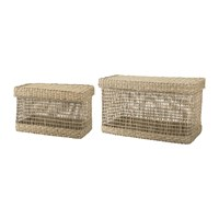 Bloomingville Seagrass Baskets Natural Set Of 2