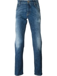 Jacob Cohen Cropped Straight Leg Jeans Blue