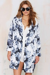 Nasty Gal The Fifth Walking Home Midi Coat Floral