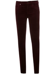 7 For All Mankind Slim Fitted Trousers Red
