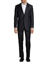 Hart Schaffner Marx Two Button Black Wool Suit