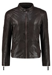 Gipsy Drago Lasov Leather Jacket Braun Dark Brown