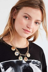 Urban Outfitters Hyde Statement Necklace Gold