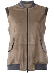 Brunello Cucinelli Zipped Vest Brown