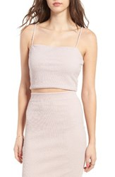 June And Hudson Women's Rib Knit Crop Tank