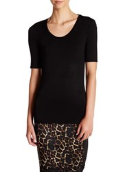 Catherine Malandrino Elbow Length Sleeve Tee Black