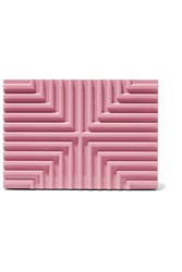 Lee Savage Cross Stack Pink Brass Box Clutch Baby Pink