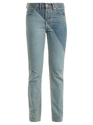 Vetements X Levi's Cross Cut Slim Leg Jeans Denim