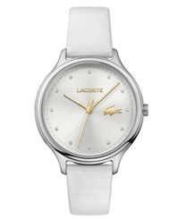 Lacoste Women's Constance White Pearlized Leather Strap Watch 38Mm No Color